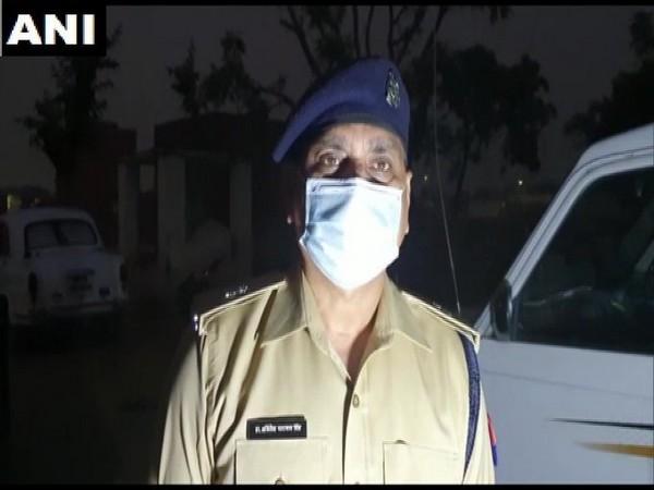 Superintendent of Police, Akhilesh Narayan Singh speaking to reporters. Photo/ANI