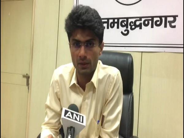 Suhas LY, District magistrate, Gautam Budh Nagar speaking to ANI (Photo/ANI)