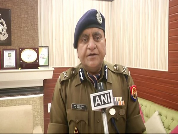 Uttar Pradesh DGP OP Singh speaking to reporters on Monday in Lucknow. (Photo/ANI)