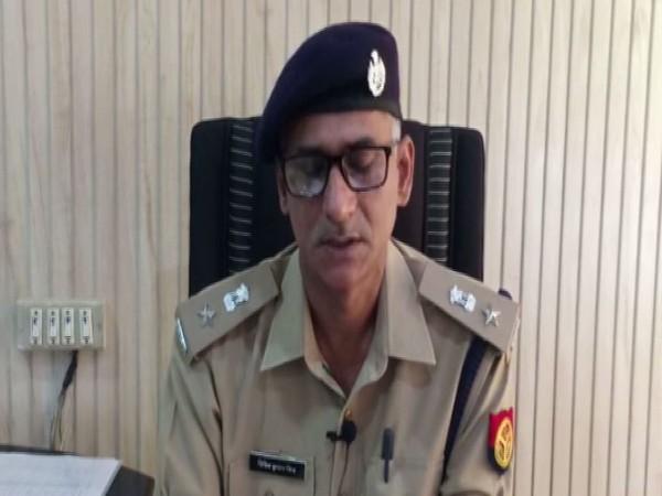 Jaunpur Superintendent of Police VK Mishra while speaking to ANI on Sunday. Photo/ANI