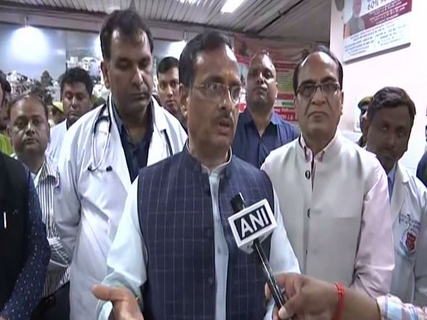 Uttar Pradesh Deputy Chief Minister Dinesh Sharma after meeting Unnao rape victim at KGMU in Lucknow on Tuesday. Photo/ANI