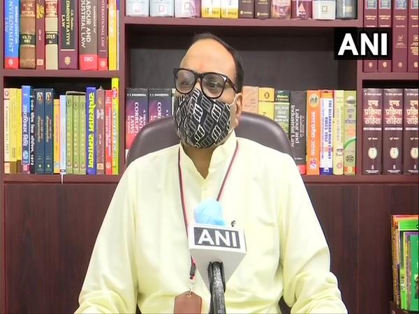 Uttar Pradesh minister Brijesh Pathak speaks to ANI on Thursday. (Photo/ANI)