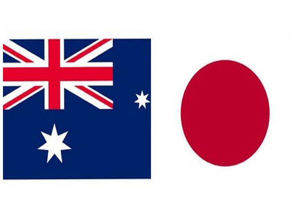 Australian and Japanese flags