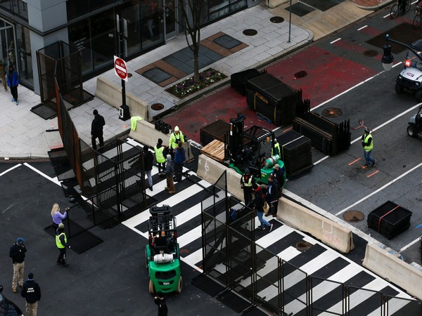 Barricades have been put to control access to US President-elect Joe Biden's inauguration. (Photo credit: Reuters)