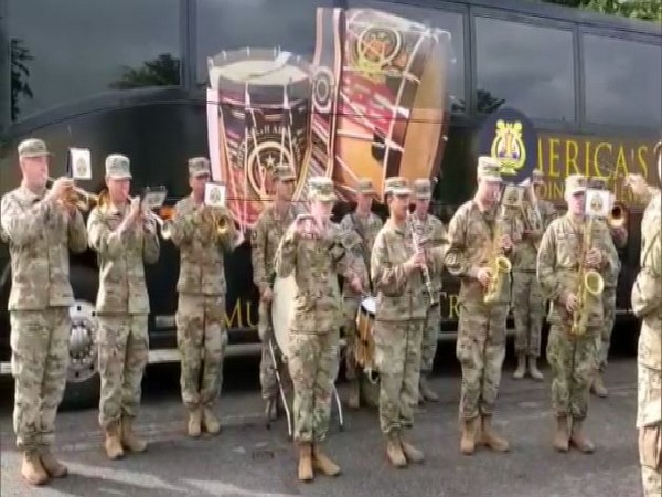 US Army band played Indian National Anthem during Yudh Abhyas 2019 on Wednesday. Photo/ANI