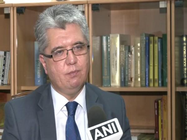 Uzbekistan Ambassador to India Dilshod Akhatov talking to ANI on Sunday.