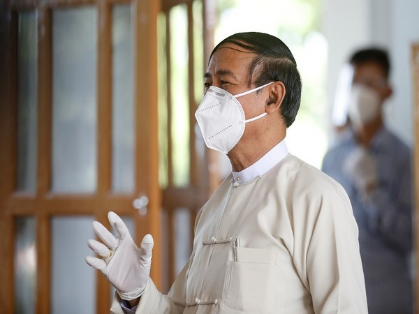 Myanmar President U Win Myint (File pic)