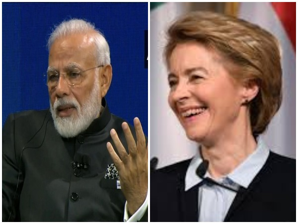 PM Narendra Modi and European Commission President Ursula von der Leyen