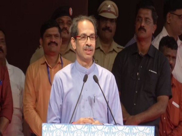 Maharashtra Chief Minister Uddhav Thackeray speaking at an event in Mumbai on Monday. Photo/ANI
