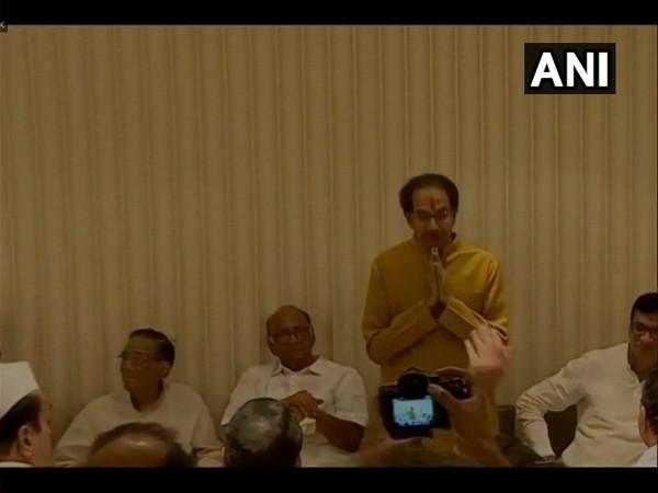 Visual from Shiv Sena, NCP and Congress meeting
