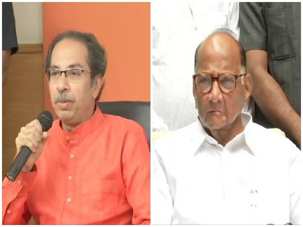 Shiv Sena chief Uddhav Thackeray and NCP chief Sharad Pawar (File photo)