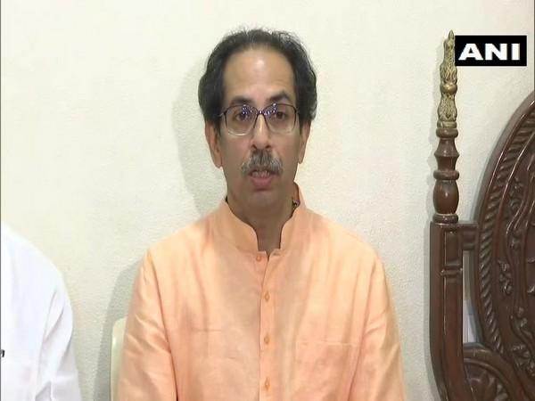 Shiv Sena chief Uddhav Thackeray addressing a press conference in Mumbai on Friday.