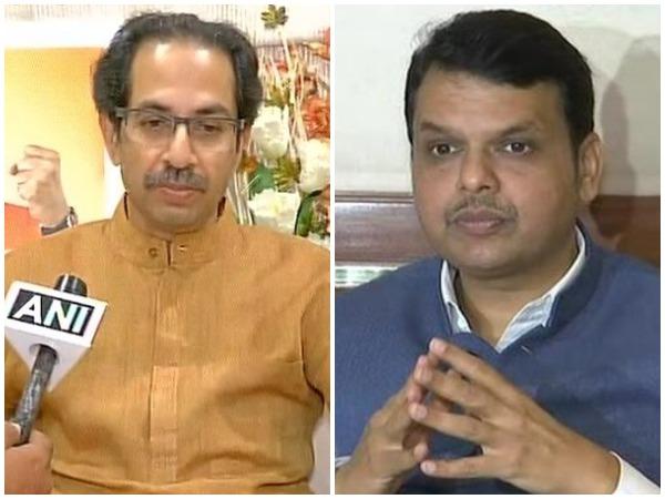 Shiv Sena Chief Uddhav Thackeray and CM Devendra Fadnavis (left to right)