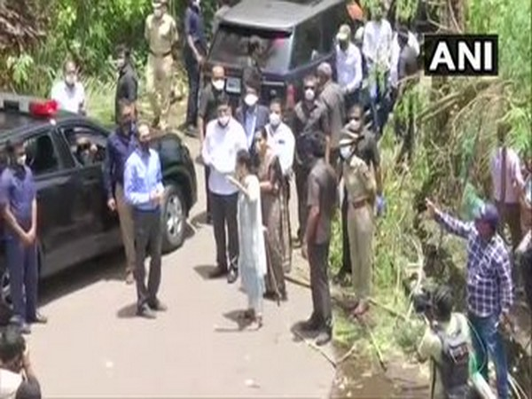 Maharashtra Chief Minister Uddhav Thackeray visited Raigad's Alibaug to take stock of the situation in the wake of cyclone Nisarga. [Photo/ANI]