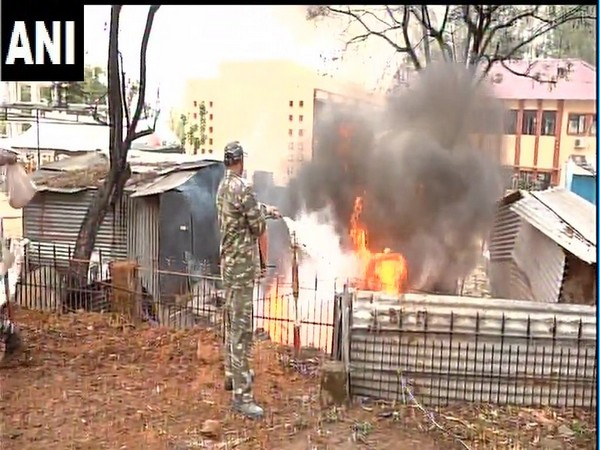 Fire at police lines in Udhampur