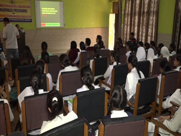 Girl students being educated about POCSO act in Udhampur government high school (Photo/ANI)
