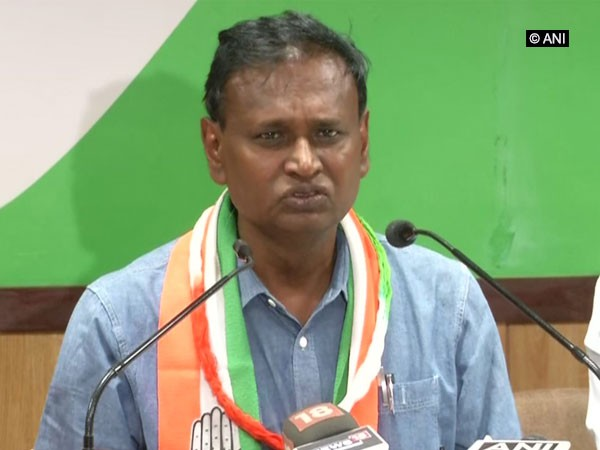 Congress leader Udit Raj addressing a press conference in Jaipur on Tuesday. Photo/ANI