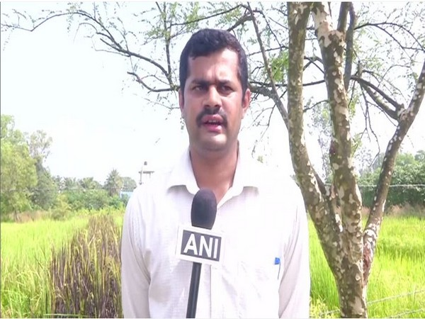 Ullas MY from University of Agriculture and Horticulture Sciences. Photo/ANI