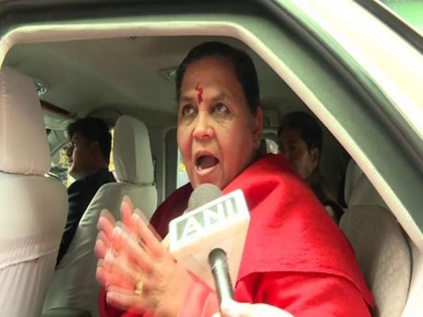 BJP leader Uma Bharati speaking to ANI in New Delhi on Friday. Photo/ANI