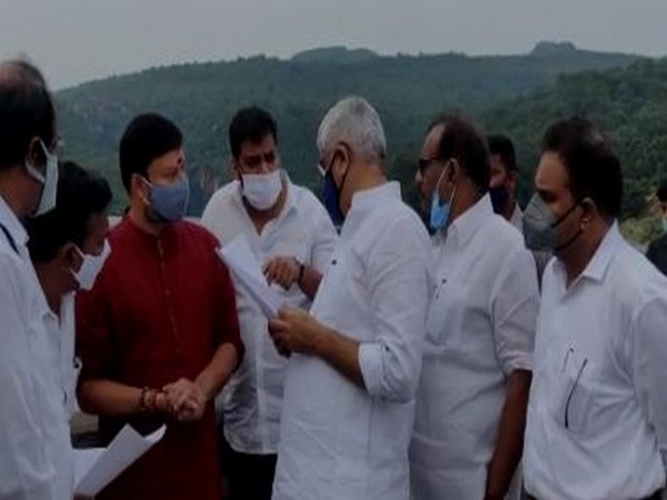 Union Minister inspects measures taken to resolve water scarcity in Tirumala on Saturday. Photo/ANI
