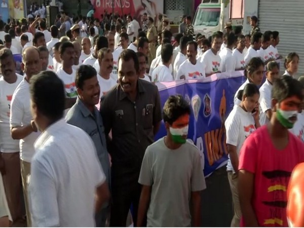 'Run for Unity' programme conducted in Vijayawada [Photo/ANI]