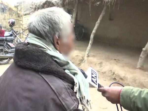 Unnao rape victim's father talking to ANI on Saturday. Photo/ANI