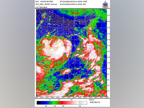 Cyclone Gulab is likely to move nearly westwards (Pic Credit: IMD Twitter)