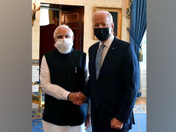 President Joe Biden with Prime Minister Narendra Modi