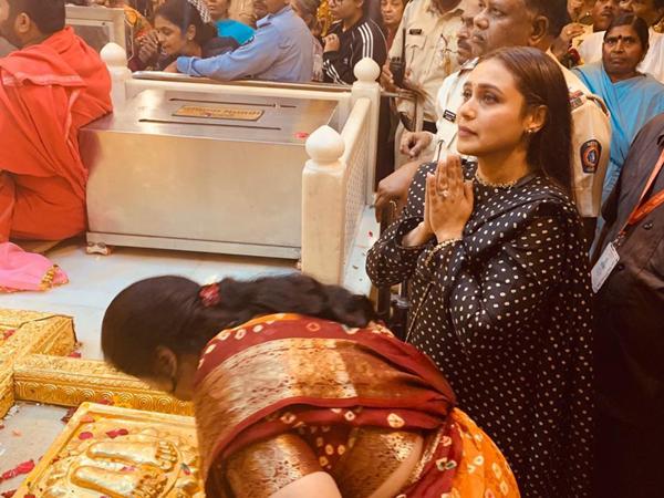 Rani Mukerji at Shirdi temple, Maharashtra, on Monday.