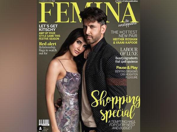 Hrithik Roshan and Vaani Kapoor on Femina magazine's cover (Image courtesy: Instagram)