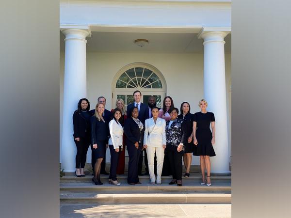Kim Kardashian West, Alice Marie Johnson, Ivanka Trump, Jared Kushner, Judith Negron, Crystal Munoz and Tynice Nichole Hall (Image courtesy: Twitter)