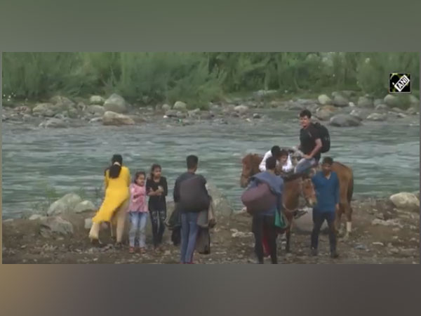 Visual of tourists in Pahalgam (Photo/ANI)