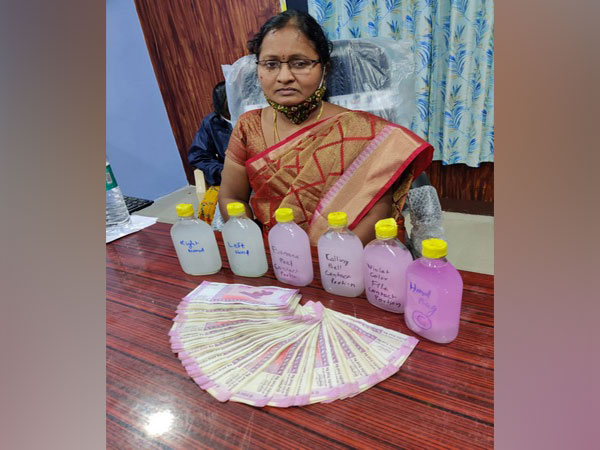 The ACB officials recovered the bribe amount from her bag.