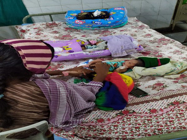 The twin girls were born eight-days back at an hospital in Krishna district.