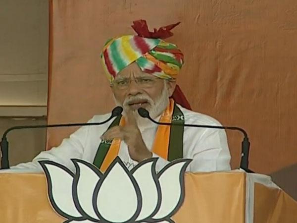 Prime Minister Narendra Modi addresses a rally in Rewari, Haryana  [Photo/ANI]