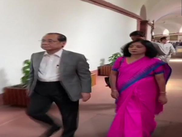 Former CJI Ranjan Gogoi in the Parliament on Thursday. Photo/ANI