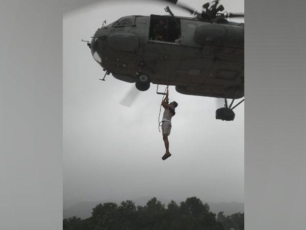Visual of Indian Army in Maharashtra (Photo/ANI)