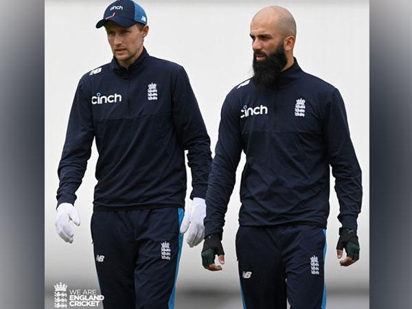 Joe Root with Moeen Ali (Photo/ England Cricket Twitter)