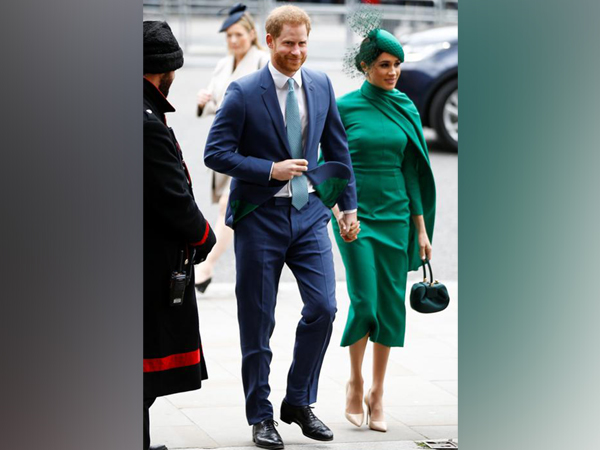 Britain's Prince Harry and Meghan, Duchess of Sussex, arrive for the annual Commonwealth Service at Westminster Abbey in London,