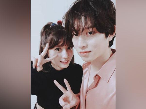 K-pop group Super Junior's Kim Heechul and TWICE's Momo