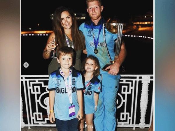 England all-rounder Ben Stokes with his family (Photo/ Ben Stokes Instagram)