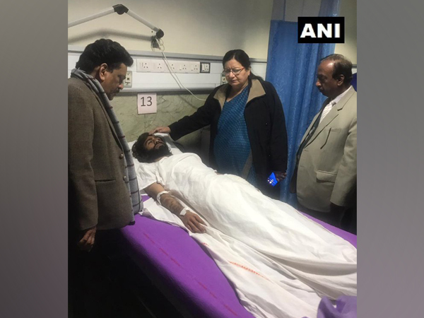 Jamia Millia Islamia Vice-Chancellor Najma Akhtar visits AIIMS to enquire about the health of Shadab Farooq who was injured in firing.