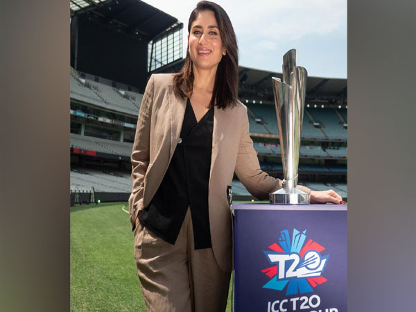 Kareena Kapoor Khan with ICC Women's T20 World Cup Trophy. (Photo/T20 World Cup Twitter)