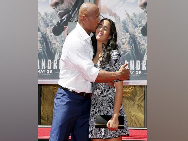 Dwayne Johnson along with daughter Simone Johnson