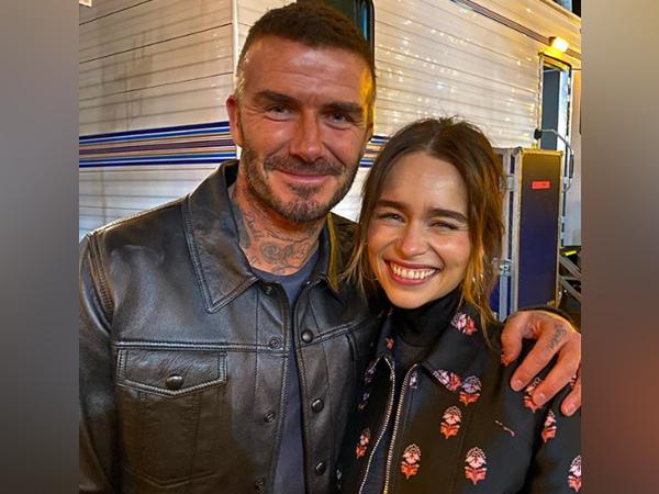 David Beckham and Emila Clarke (Image courtesy: Instagram)