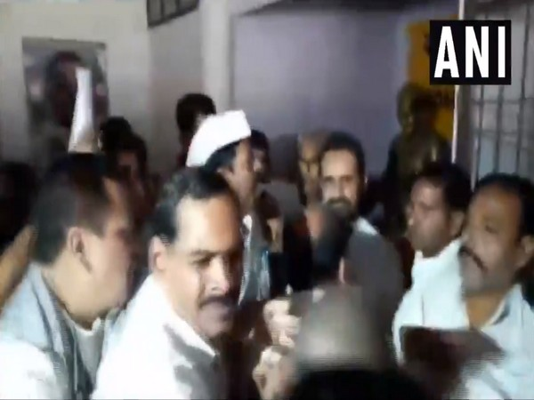 Congress wrokers created ruckus in party office in Patna on Thursday to protest against denial of ticket to former MP Nikhil Kumar. Photo/ANI