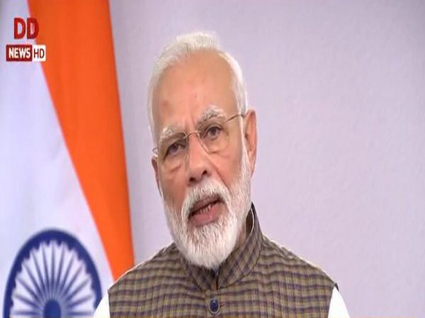 Prime Minister Narendra Modi during his address to the nation on Tuesday. Photo/ANI