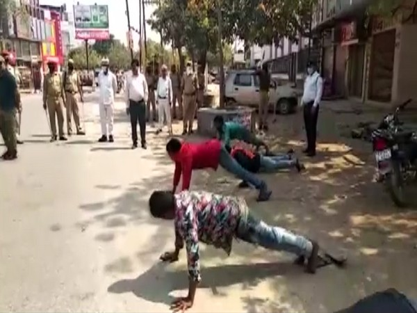 Uttar Pradesh Police on Wednesday asked lockdown violators in Mau to do push-ups and squat as a punishment.
