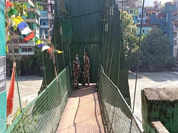 International swing bridge at Dharchula. (Photo/ANI)