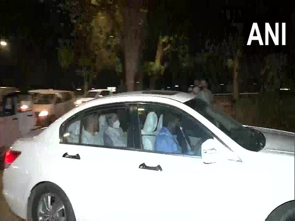 Uttarakhand Chief Minister Tirath Singh Rawat reached at BJP president Jagat Prakash Nadda's residence on Friday night for a meeting.
